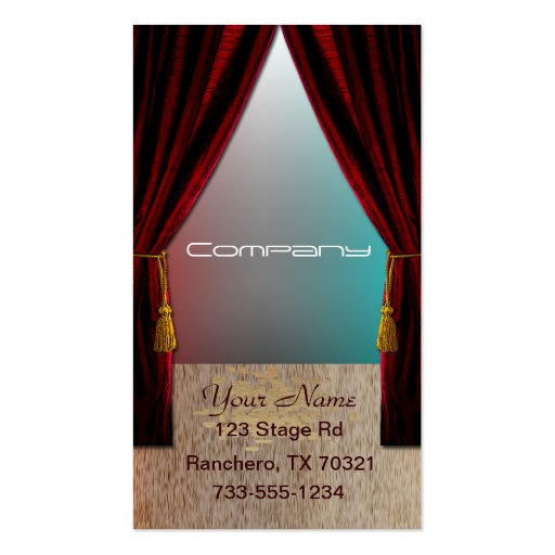 Performing Arts Double-Sided Standard Business Cards (Pack Of 100)