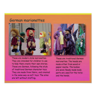Performing arts, German marionettes Poster
