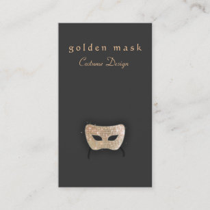 Theatre business cards templates zazzle performing arts gold sequin mask business card colourmoves