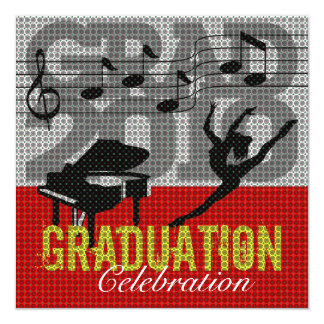 Performing Arts Graduation Party 2 Invitation