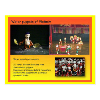Performing Arts, Vietnamese water puppets Postcard