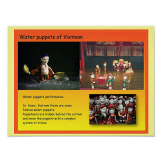 Performing Arts, Vietnamese water puppets Poster