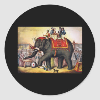 Performing elephant classic round sticker