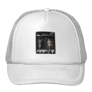 Performing For The Birds - Biomechannequin 3 Color Trucker Hat