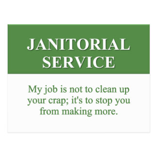 Performing Janitorial Services (2) Postcard