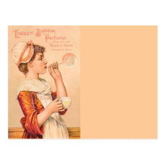 Perfume 1893 de la floración del tilo postales