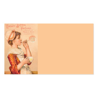 Perfume 1893 de la floración del tilo tarjetas de visita