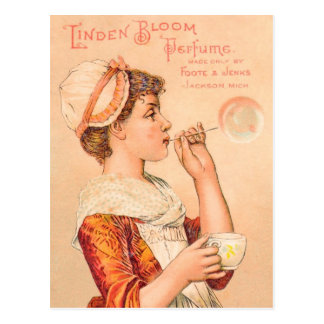 Perfume 1893 de la floración del tilo tarjeta postal