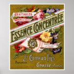 Perfume 1915 del francés de Concentree de la esenc Posters