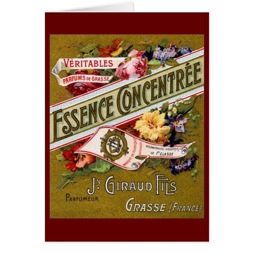 Perfume 1915 del francés de Concentree de la esenc Felicitacion