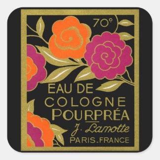Perfume 1920 de agua de colonia Pourprea Pegatina Cuadrada