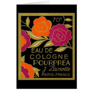 Perfume 1920 de agua de colonia Pourprea Tarjeta De Felicitación