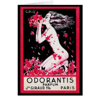 Perfume 1922 del francés de Odorantis Tarjeta De Felicitación
