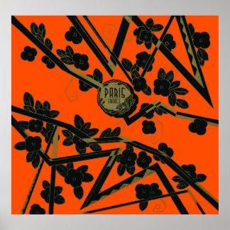 Perfume 1925 de París Francia del art déco Poster