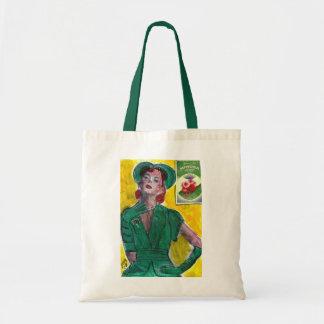 Perfume Ad 1940's Style Budget Tote Bag