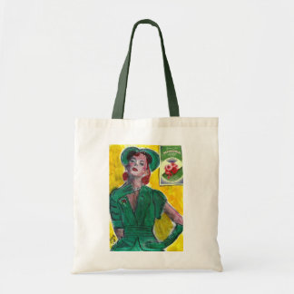 Perfume Ad 1940's Style Tote Bag