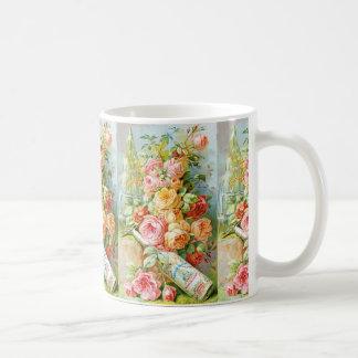 Perfume Ad With Roses Coffee Mug