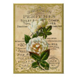 Perfume antiguo de los rosas posters