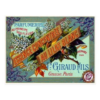 Perfume blanco francés de la lila 1915 tarjeta postal