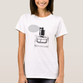 perfume bottle black and white (white background). T-Shirt