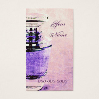 perfume bottle business card template