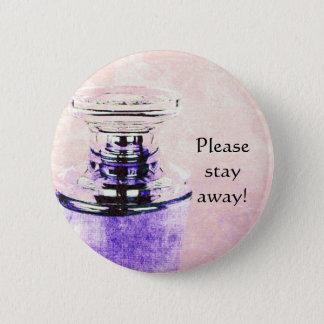 perfume bottle caution pin button
