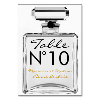 Perfume Bottle TABLE NUMBER Seating Table Card