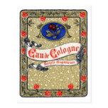 Perfume de agua de colonia de 1925 superiores tarjetas postales