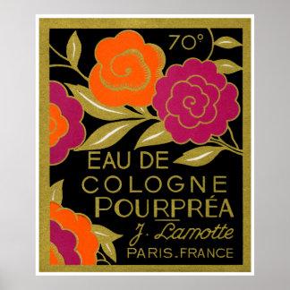 Perfume de agua de colonia Pourprea de 1920 france Impresiones