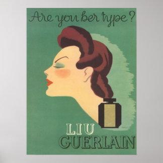 Perfume de Liu del anuncio del vintage por los año Impresiones