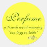 Perfume Definition Round Sticker