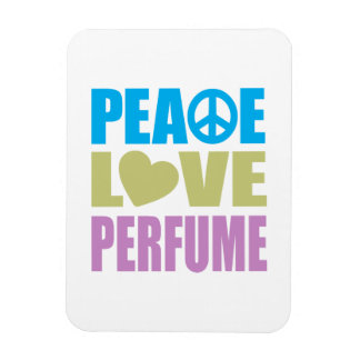 Perfume del amor de la paz imán de vinilo