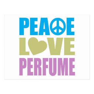 Perfume del amor de la paz postal