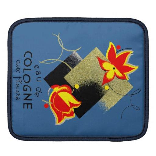Perfume floral francés 1920 funda para iPads