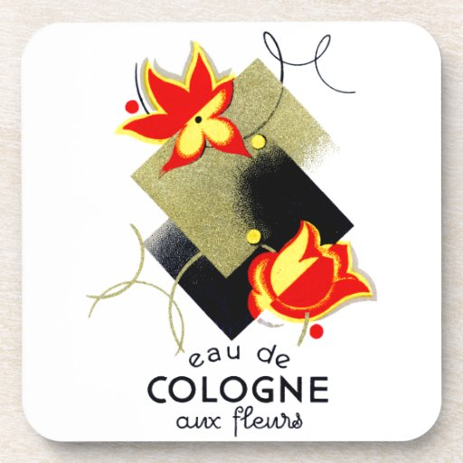 Perfume floral francés 1920 posavasos de bebidas