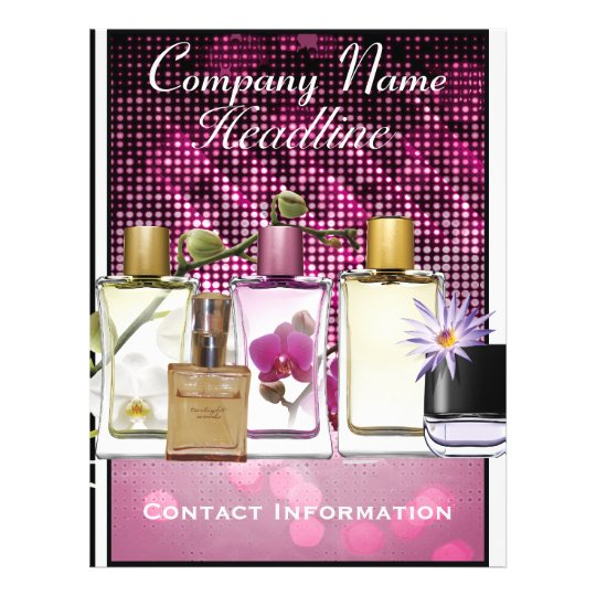 Perfume Fragrance Marketing Flyer Template Zazzle