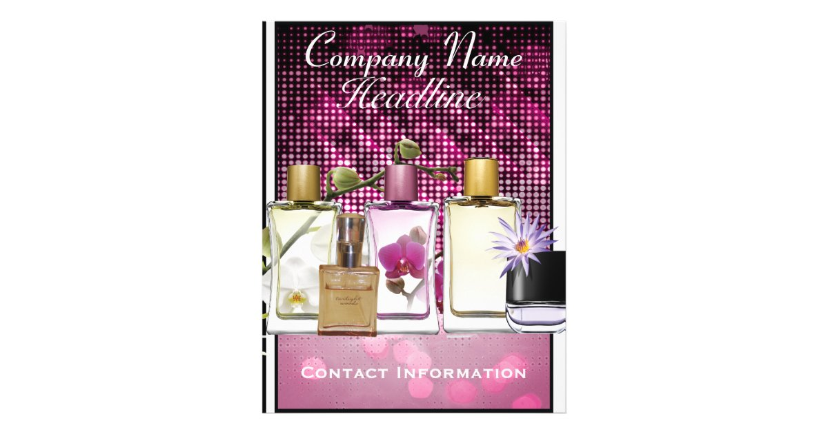 Perfume Amp Fragrance Marketing Flyer Template Zazzle Com