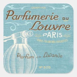 Perfume francés pegatina cuadrada