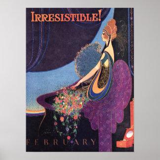 Perfume irresistible de Mavis del art déco Póster