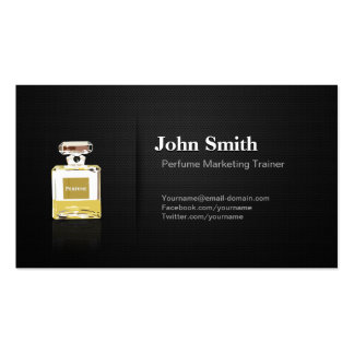 Perfume Marketing Trainer - Professional Black Business Card