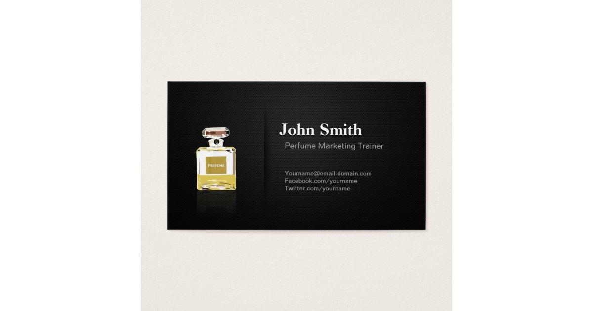 Perfume Marketing Trainer - Professional Black Business Card ...