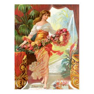 Perfume persa del ramo tarjetas postales