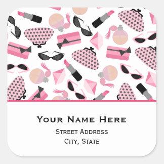 Perfume Purses & Lipstick Address Sticker