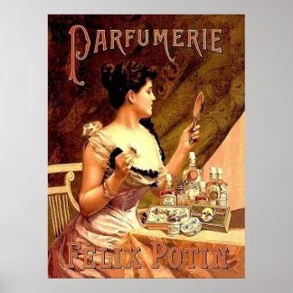 Perfume Shop Vintage Advertisement Poster