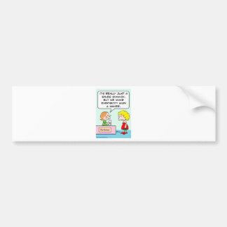 perfume sign waiver sales gimmick car bumper sticker