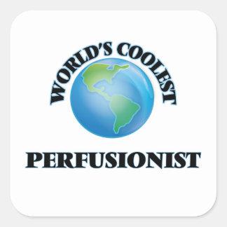 Perfusionist más fresco del mundo pegatina cuadrada