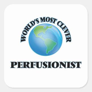 Perfusionist más listo del mundo pegatina cuadrada