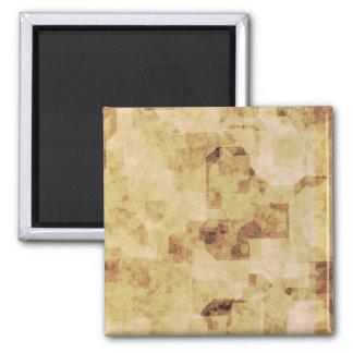 pergamino antiguo marrón del grunge texturizado imán cuadrado