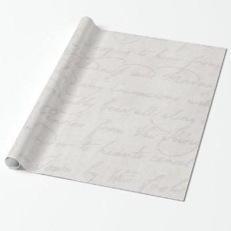 Pergamino blanco gris claro colonial del texto del papel de regalo