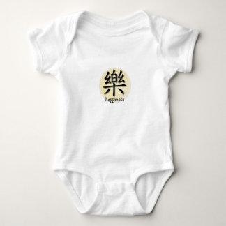 Pergamino chino del símbolo de la felicidad de la mameluco de bebé